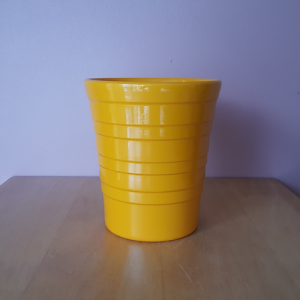 Linia mango orange 5 inch ceramic decorative indoor plant container available in GTA (Toronto, Mississauga, Brampton, etc)