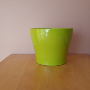 Isabel ceramic decorative indoor plant container green color 6 inch available in Mississauga GTA