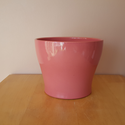 Isabel ceramic decorative indoor plant container pink 6 inch