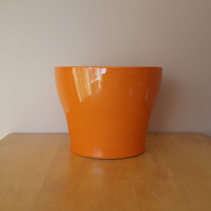 Isabel ceramic orange decorative container 6 inch for indoor plants houseplant pots