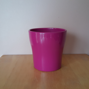 ceramic Anna fuchsia 5 inch decorative houseplant container