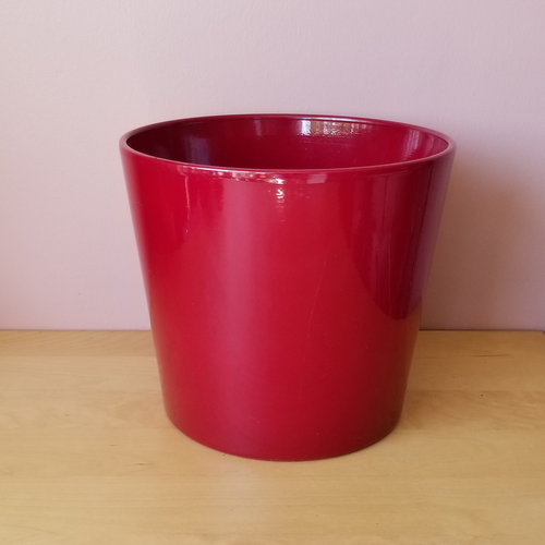 decorative ceramic container for indoor plants houseplants red wine 10 inch plant container sale Mississauga Toronto Brampton Oakville Burlington GTA
