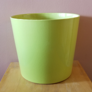 decorative ceramic container for indoor plants houseplants manhattan lime green ceramic 12 inch plant container sale Mississauga Toronto Brampton Oakville Burlington GTA