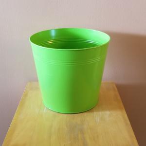 decorative container tin round 10 inch for indoor plants houseplants plant container sale Mississauga Toronto Brampton Burlington Oakville GTA