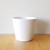 decorative ceramic container for indoor plants 'Amanda' white matt sale online curbside pickup delivery GTA Mississauga Toronto Etobicoke Brampton Burlington Oakville