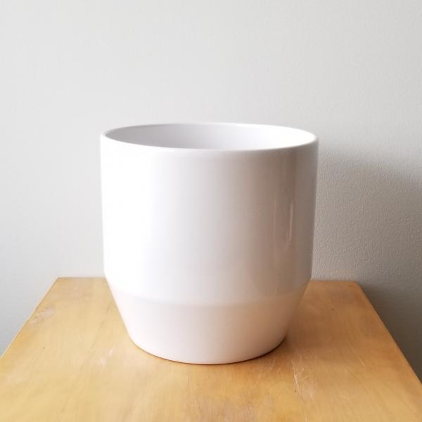 sophia decorative ceramic container white color for indoor plants houseplants interior plants officeplants plant sale Mississauga Toronto Etobicoke North York Vaughn Oakville Burlington Brampton Hamilton GTA