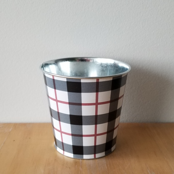 Decorative Christmas container tin for indoor plants houseplants interiorplants plant container sale Mississauga Toronto Etobicoke Brampton Burlington Oakville GTA gifts