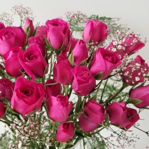 Fresh cut flowers flower bouquet Gifts for loved ones GTA Mississauga Etobicoke Toronto Brampton Oakville Burlington Milton Richmond Hill North York Spray Roses Hot Pink